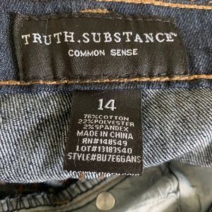 Truth Substance Bottoms - TRUTH SUBSTANCE NWT Jeans Youth 14